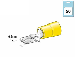 Bilde av Kabelsko gul (50stk)